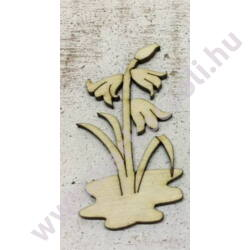 Festhető fa termék - Harangvirág, 3x7cm, 3mm vastag