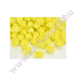 Habrózsafej (polifoam) - sárga - 3cm, 1 darab
