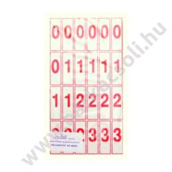 Szám és jelkártya II-IV. osztályos