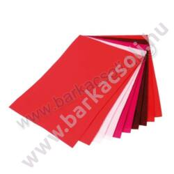 Barkácsfilc,  20 x 30 cm, 10 db piros árnyalatok (5 szín)