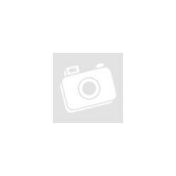 Kék színű, bordás, kör alakú, átlátszó gyerekgyöngy, 13-15mm-es